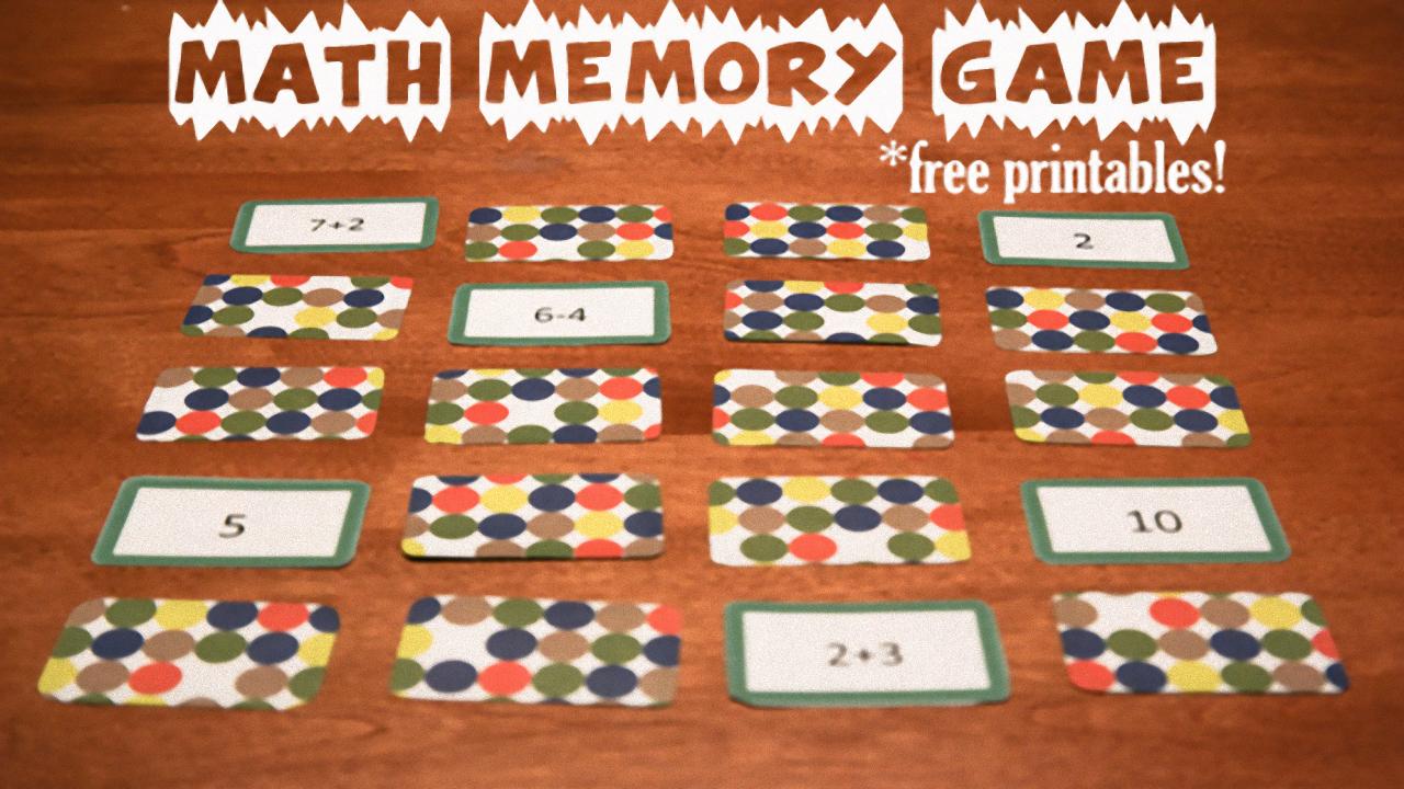 Math Memory Games, Free Printables | SDPB