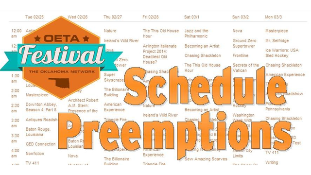 Preempted programs for Oeta schedule