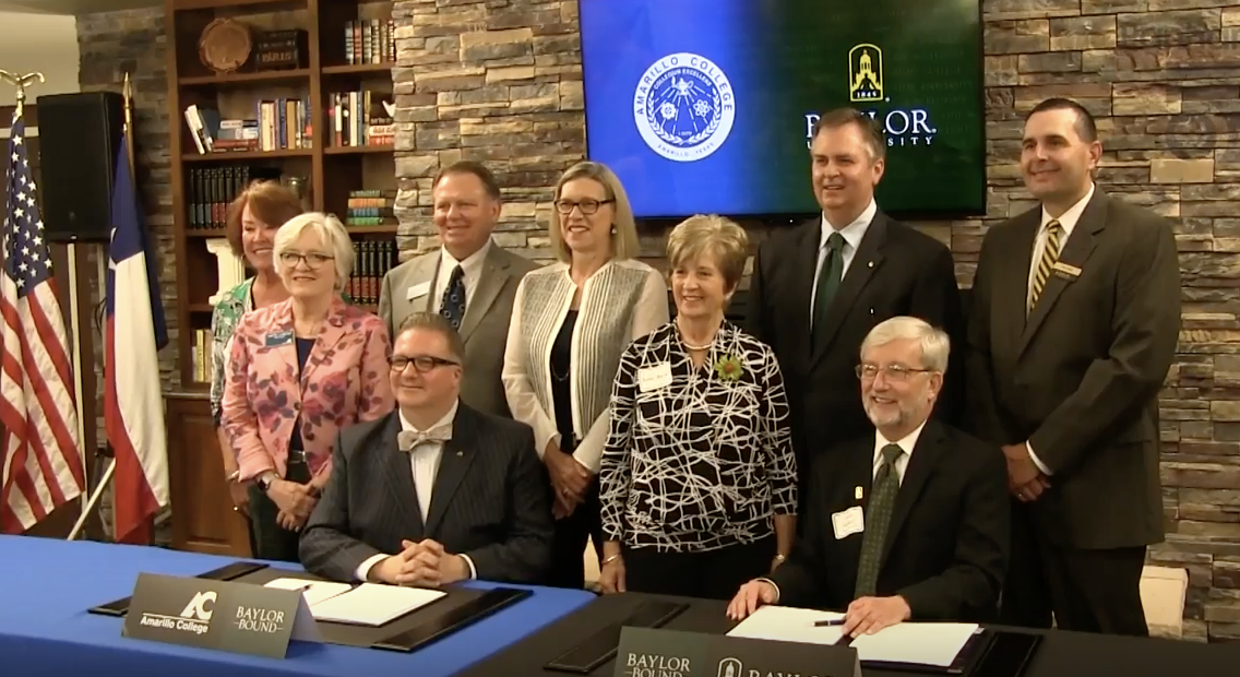 AC, Baylor University sign transfer agreement