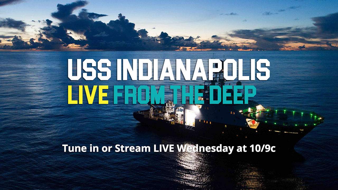 USS INDIANAPOLIS LIVE FROM THE DEEP: Facebook Live