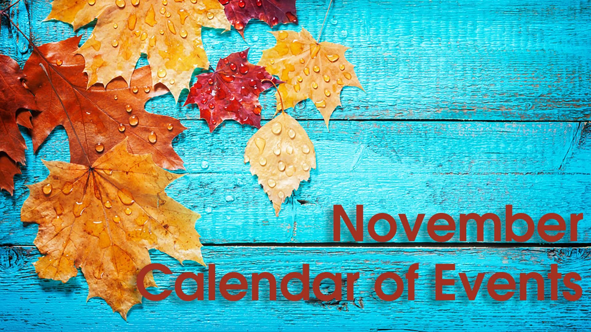 november calendar heading