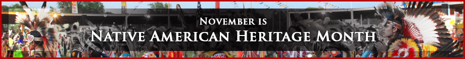 Celebrate Native Heritage Month banner