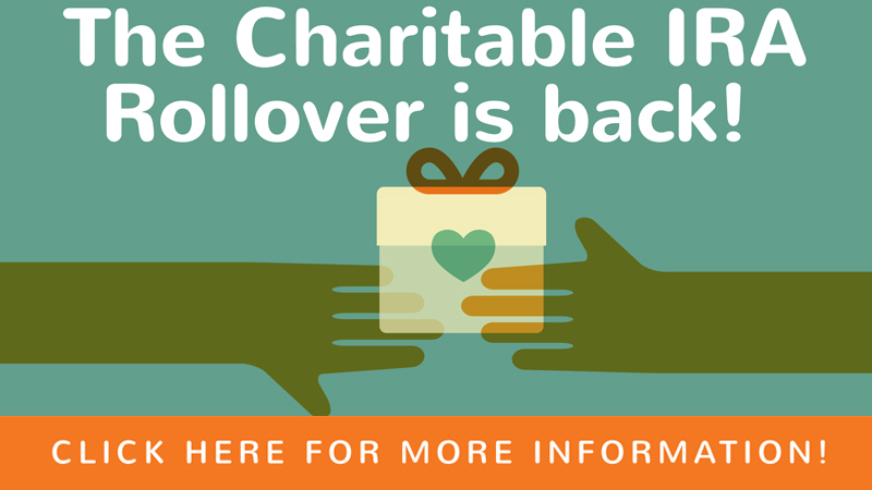 The Charitable IRA Rollover is Back!