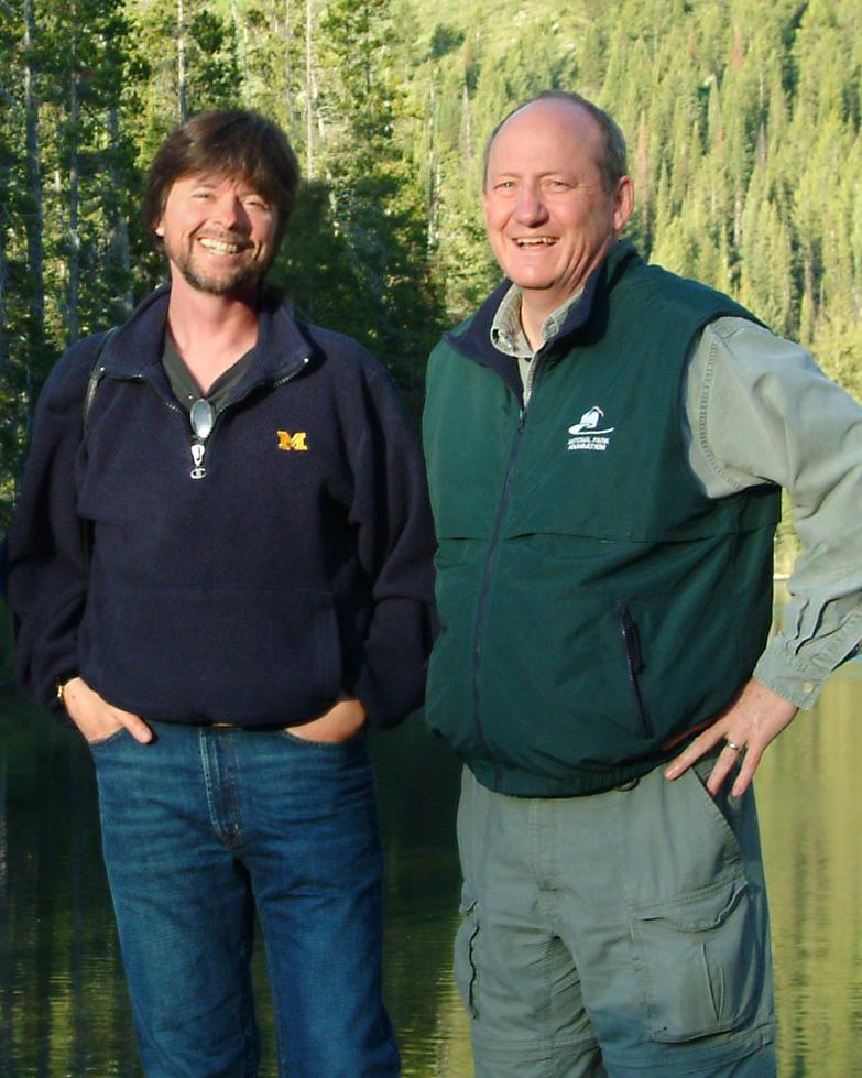 Dayton Duncan with long-time collaborator Ken Burns.