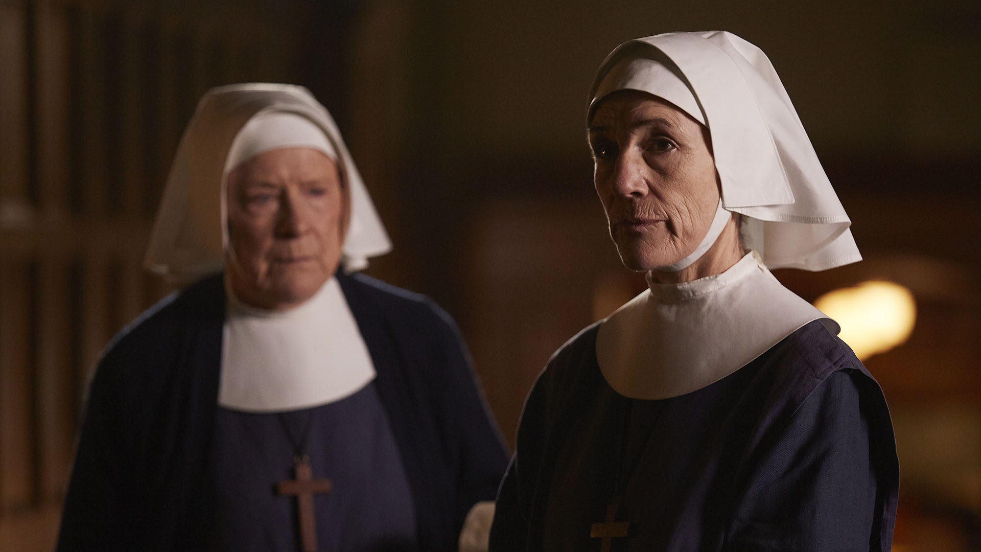 Sister Ursula, played by Harriet Walters, in a scene from Season 6.