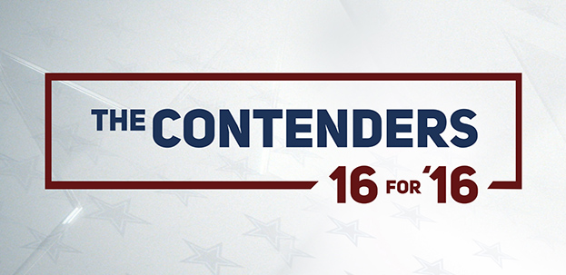TUESDAY at 8 pm-THE CONTENDERS- 16 FOR '16
