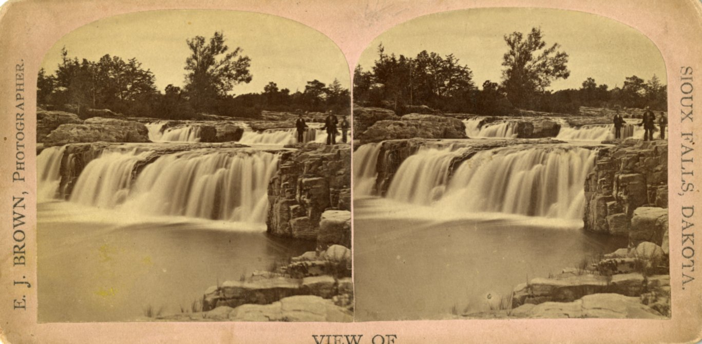 The falls of the Sioux River ca. 1878