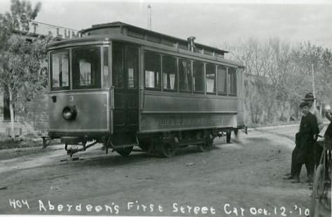 Aberdeen's first street car