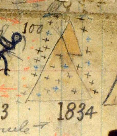 1834 winter count glyph