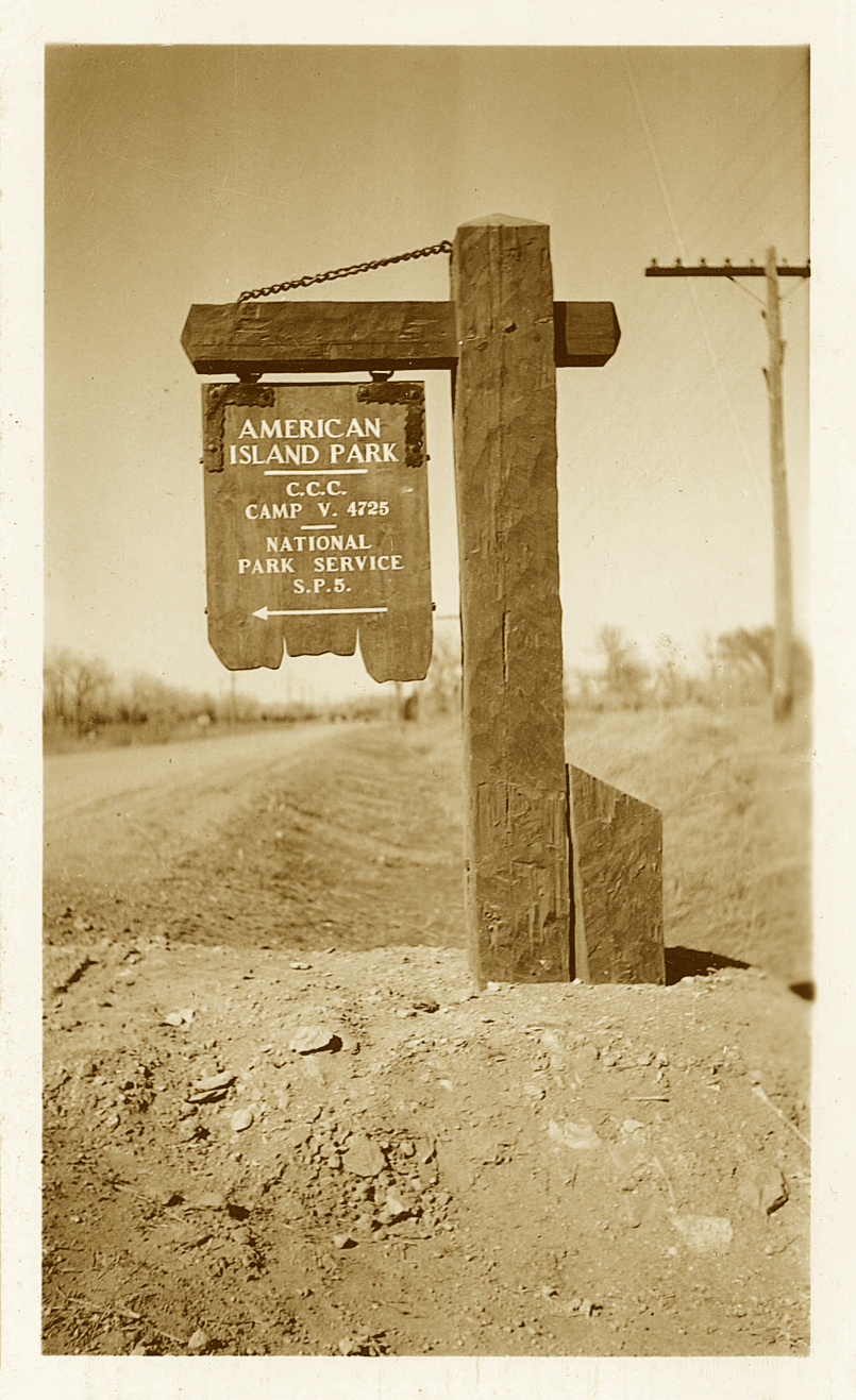 A CCC Camp sign.