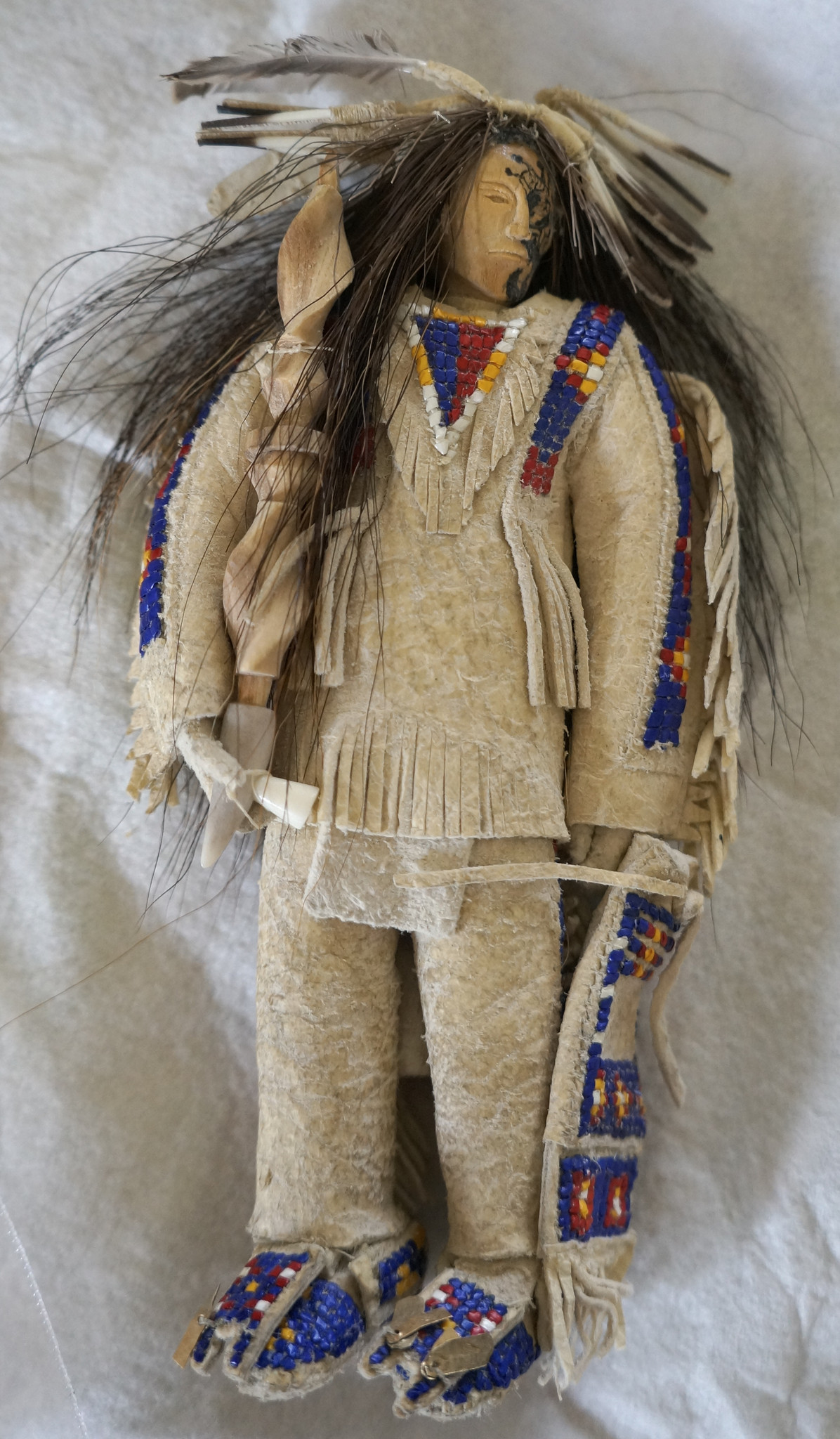 A traditional Lakota ceremonial doll made by Anthony Horse Road.