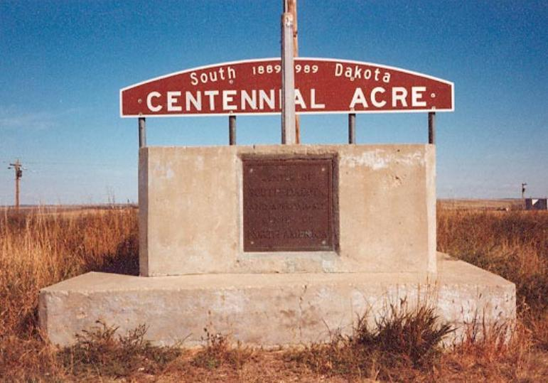 The Centennial Acre sign was the last marker to disappear from the monument.
