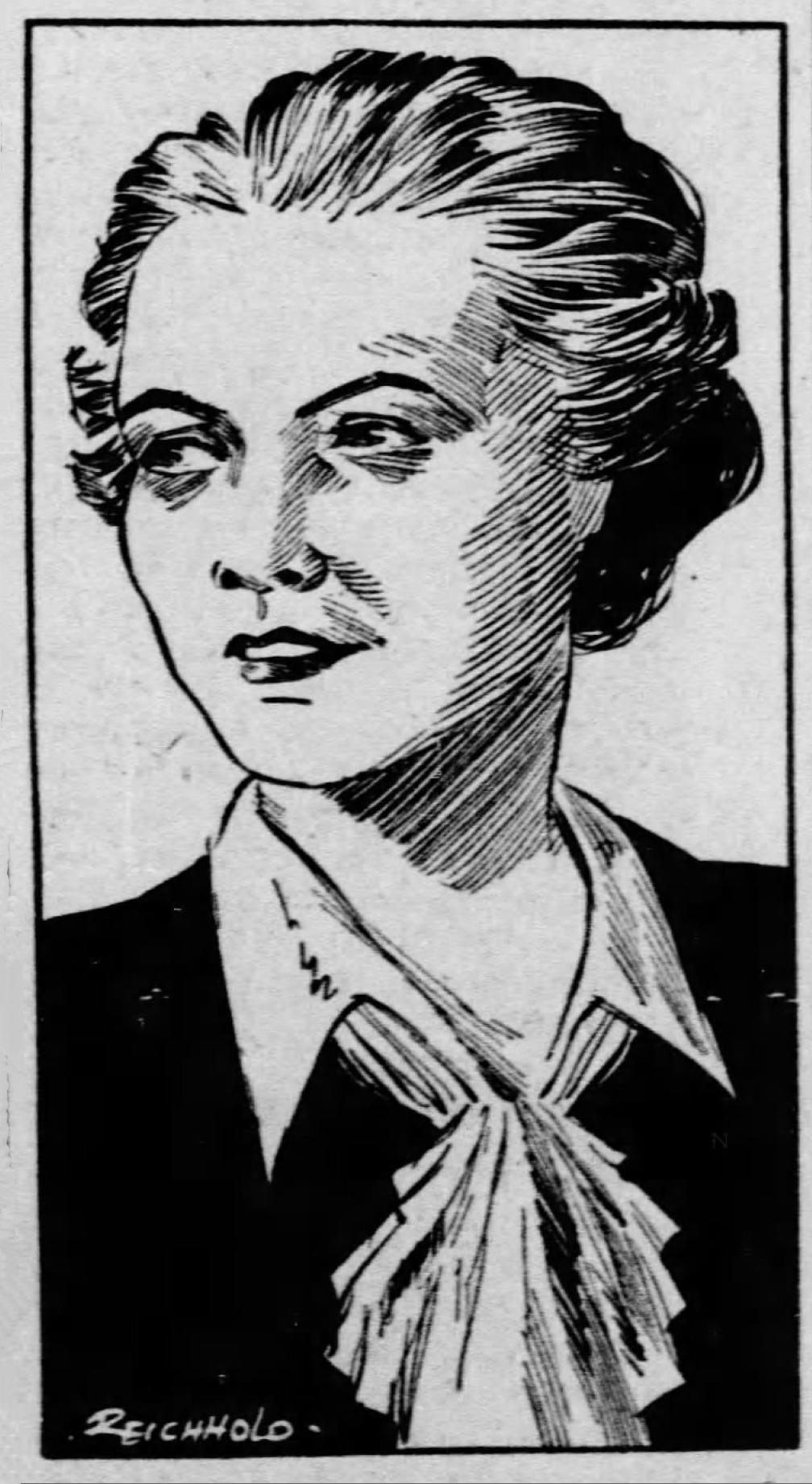 RWL 1938 newspaper sketch.