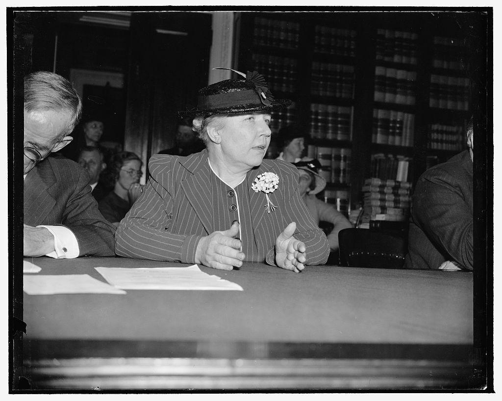 RWL testifying before Congress, 1939.