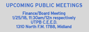 Upcoming Board Meeting Date: 01/25/18