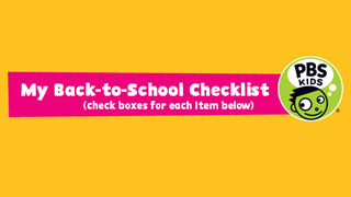 Back-to-School Checklist from PBS KIDS