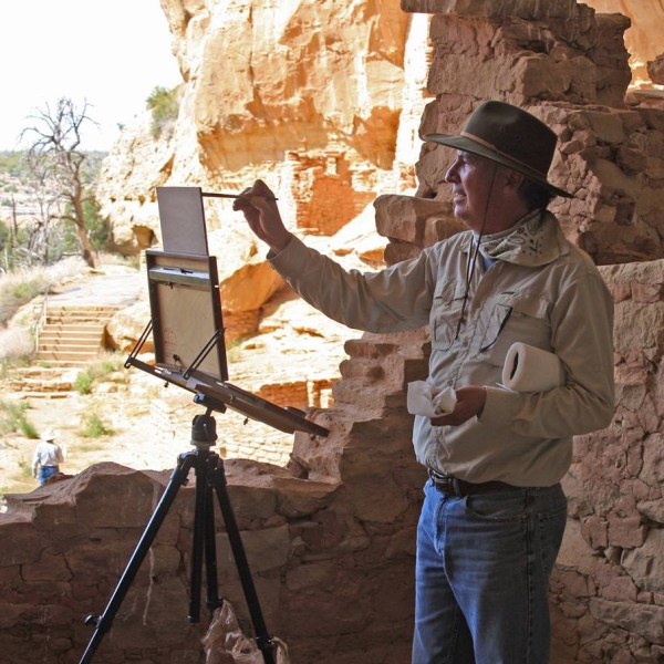 Painter Lorenzo Chavez will lead a plein air workshop for Amarillo Art Institute.