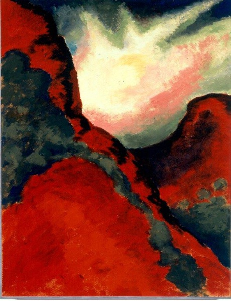 """Red Landscape"" by Georgia O'Keeffe will be translated into a 3D relief to become accessible to blind museum visitors."