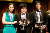 The winners of the Thirteenth Van Cliburn International Piano Competition.