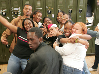 """Students from the High School for Contemporary Arts in the Bronx, one of many """"small schools"""" being created in New York City and beyond."""