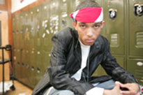 Jamal McLelland, a student at the High School for Contemporary Arts.