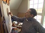 Visit the studio of Cleveland portrait artist Judy Carducci