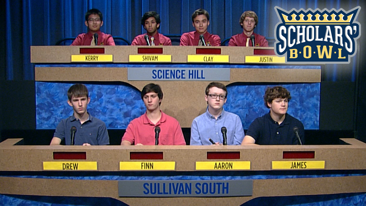 Scholars' Bowl - Tuesday at 5:30 p.m.