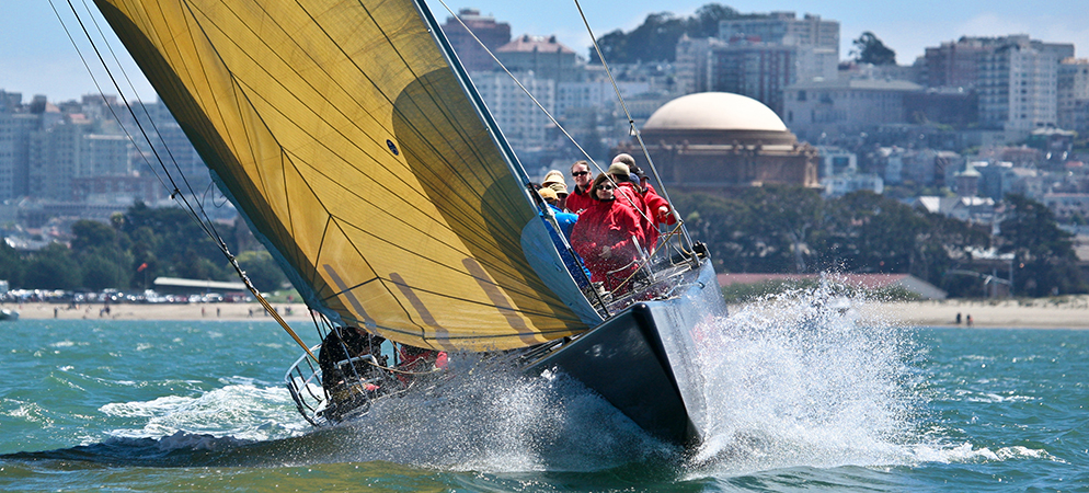 America's Cup Yacht Sailing in San Francisco