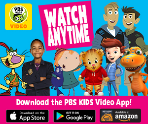Ad featuring favorite PBS Kids characters promoting the PBS Kids Video App