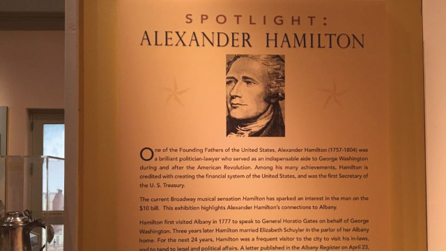 Hamilton exhibit Albany Institute