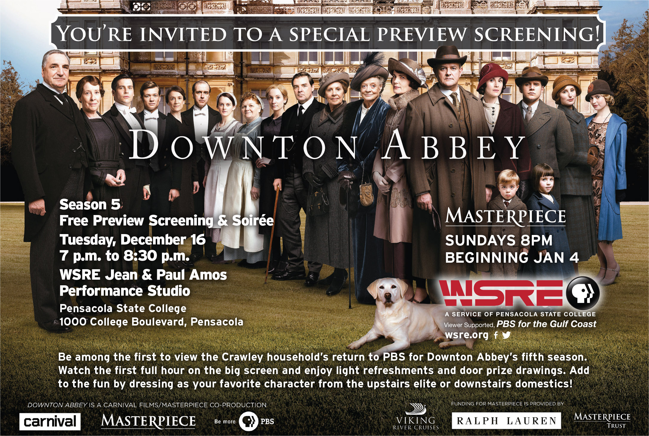 Downton abbey season 5 preview events wsre for Downton abbey tour tickets
