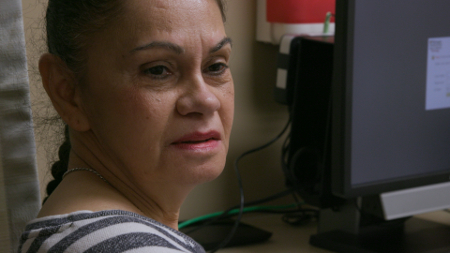 Sonja in the doctor's office