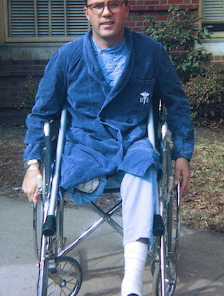 Jack Farley shortly after surgery.