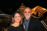 Iconic couple Gloria and Emilio Estefan smile backstage at the 2015 National Memorial Day Concert.
