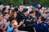 Honoree Romy Camargo sits in the audience with his family during the 2015 National Memorial Day Concert.