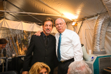 Host Joe Mantegna and General Colin Powell stand backstage during the 2015 National Memorial Day Concert.
