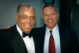 James Earl Jones and Gen. Colin L. Powell posing backstage at the 1993 National Memorial Day Concert.