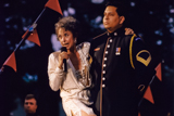 Rita Moreno performs a medley of war related compositions on the 1999 National Memorial Day Concert.