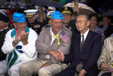 World War II veterans attend the National Memorial Day Concert.
