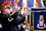 The U.S. Army Herald Trumpets performs regularly on the National Memorial Day Concert