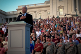 Gen. Colin Powell speaks on the steps of the Capitol on the National Memorial Day Concert.