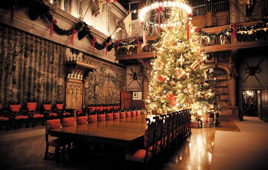 Biltmore House Banquet Hall and Christmas tree