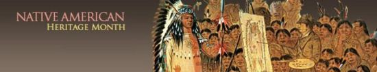 Native American Heritage Month header