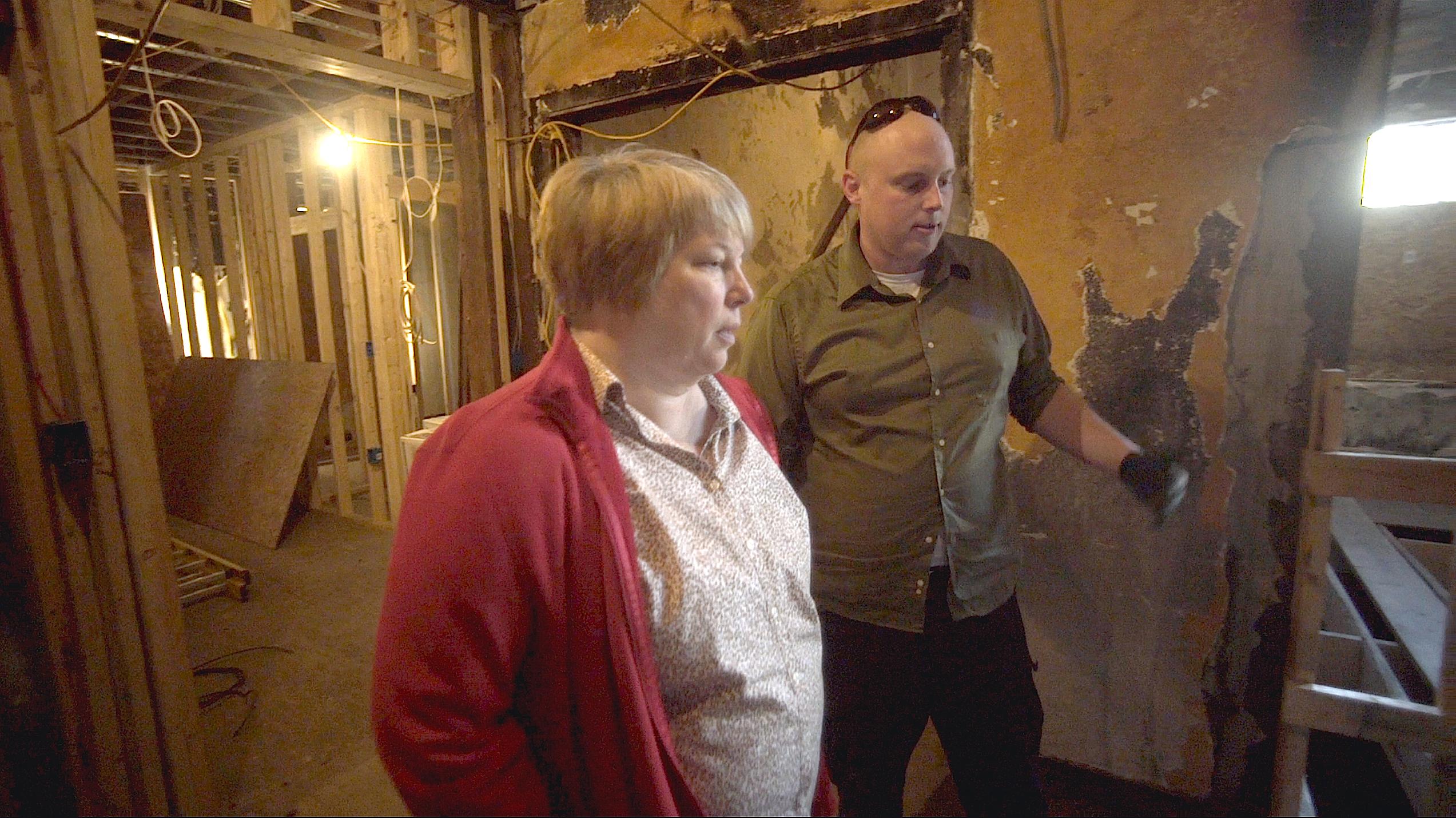 Lisa Johanon and contractor David Carsley at the Casamira Apartments rehab.jpg