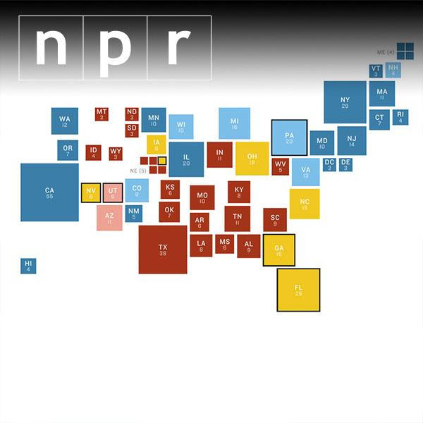 NPR Battleground Map: Clinton solidifies lead against Trump