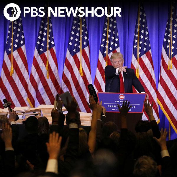 Donald Trump's press conference was a press confrontation