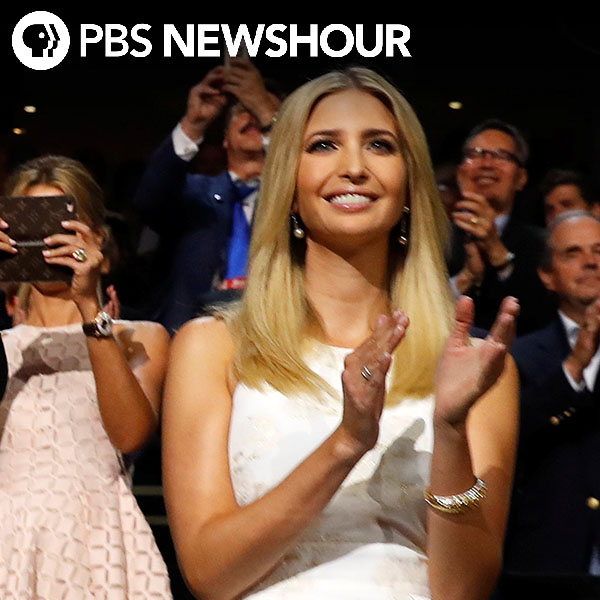 Once more, Ivanka Trump steps into spotlight for her father