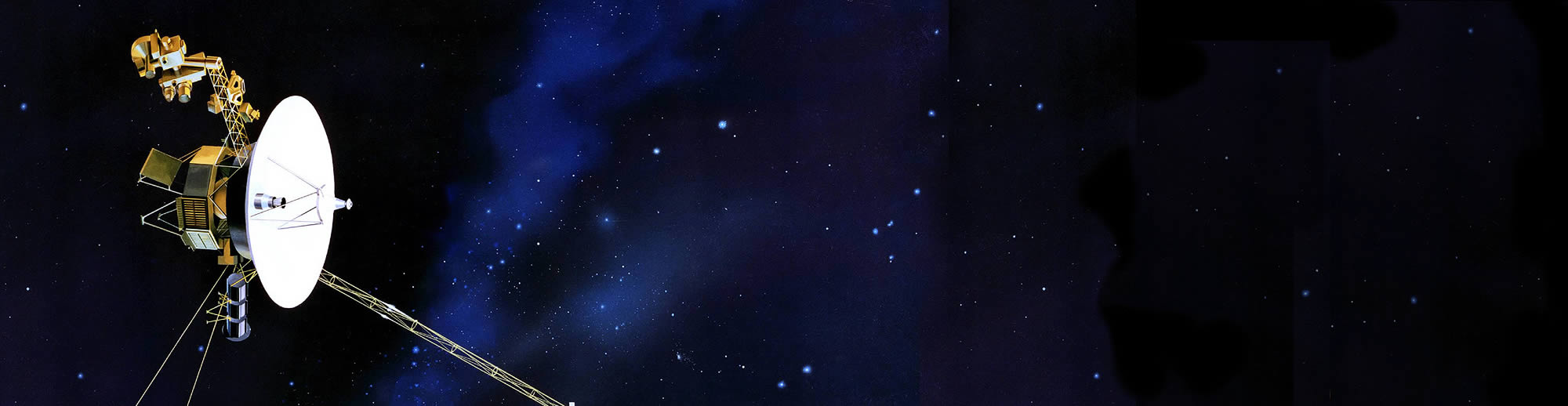 Artist rendering of Voyager flying in space