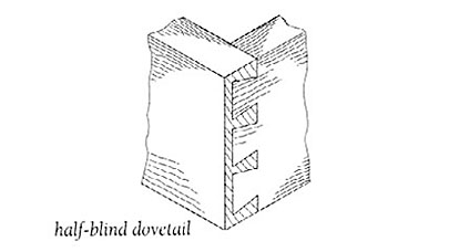 Dovetail, Half-blind