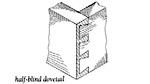 dovetail, half-blind